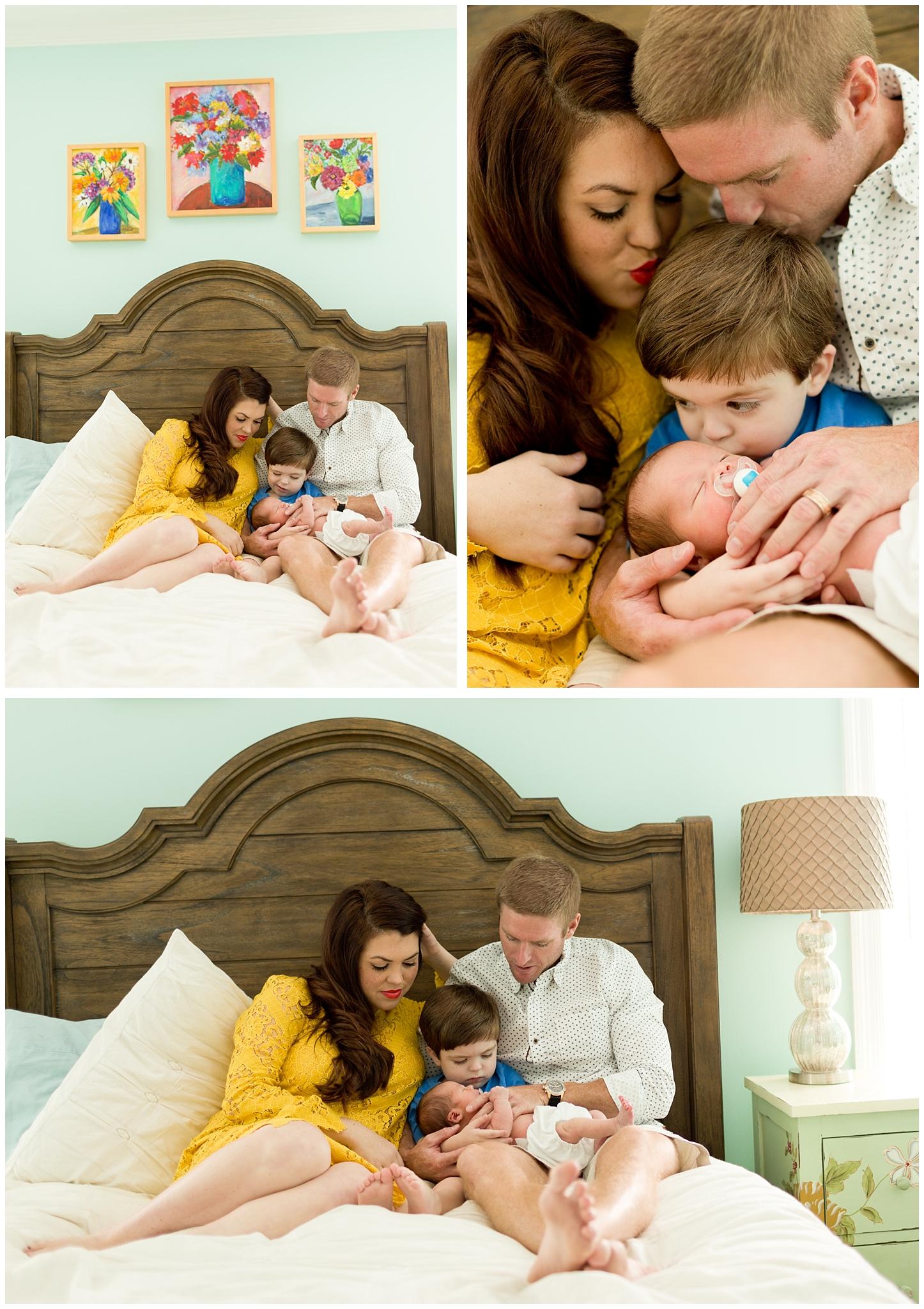 family portraits with newborn baby boy