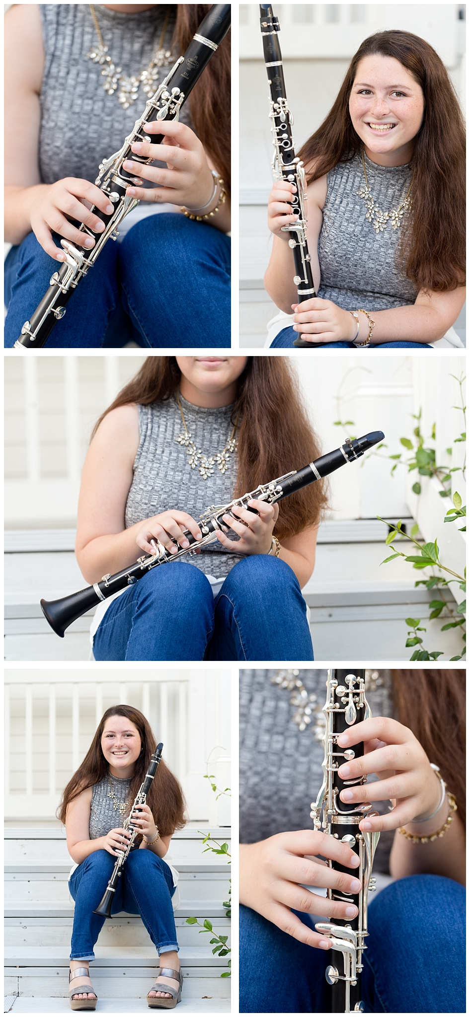senior portraits with clarinet (high school band) (Uninvented Colors Photography)