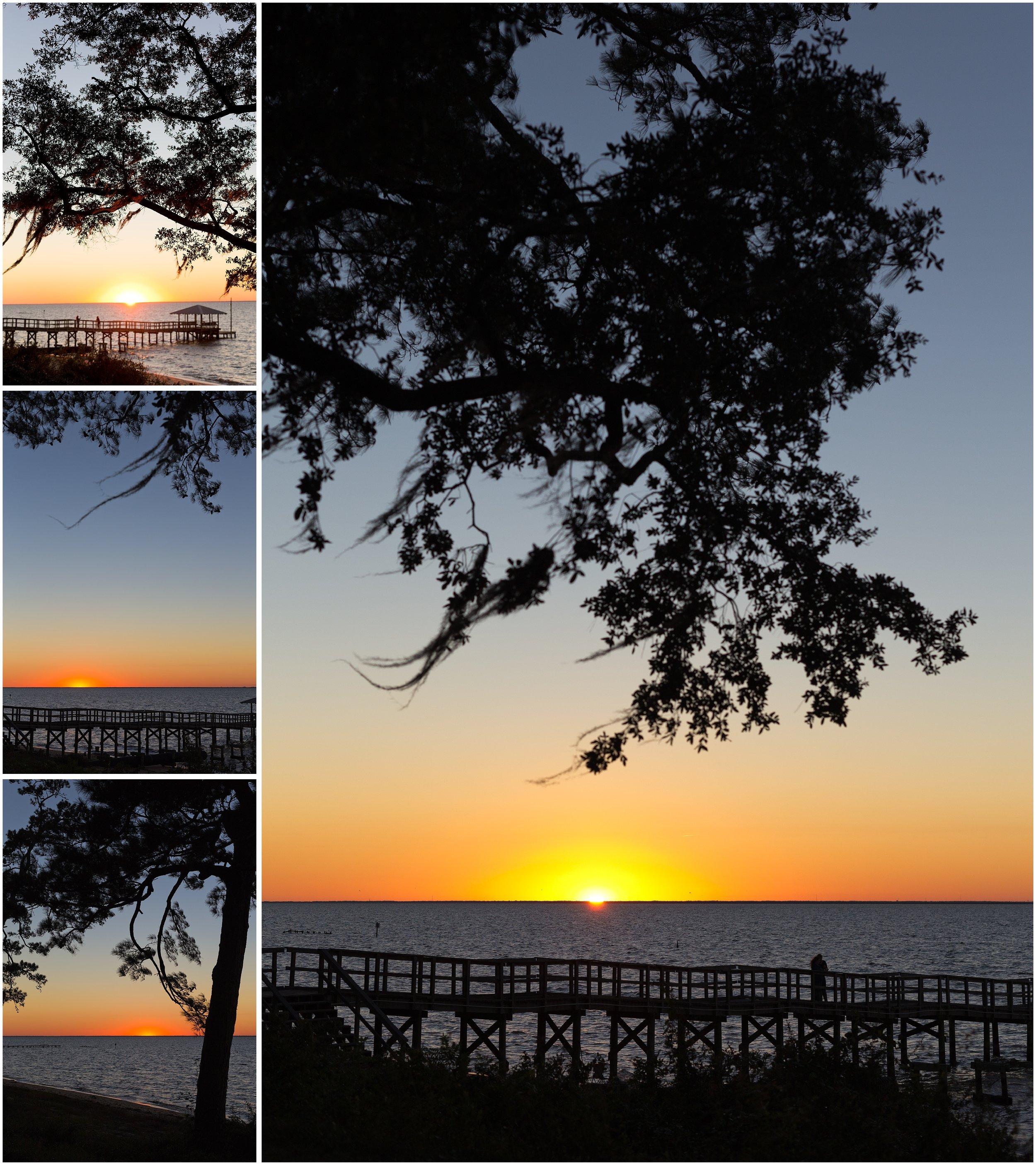 sunset in Fairhope, Alabama
