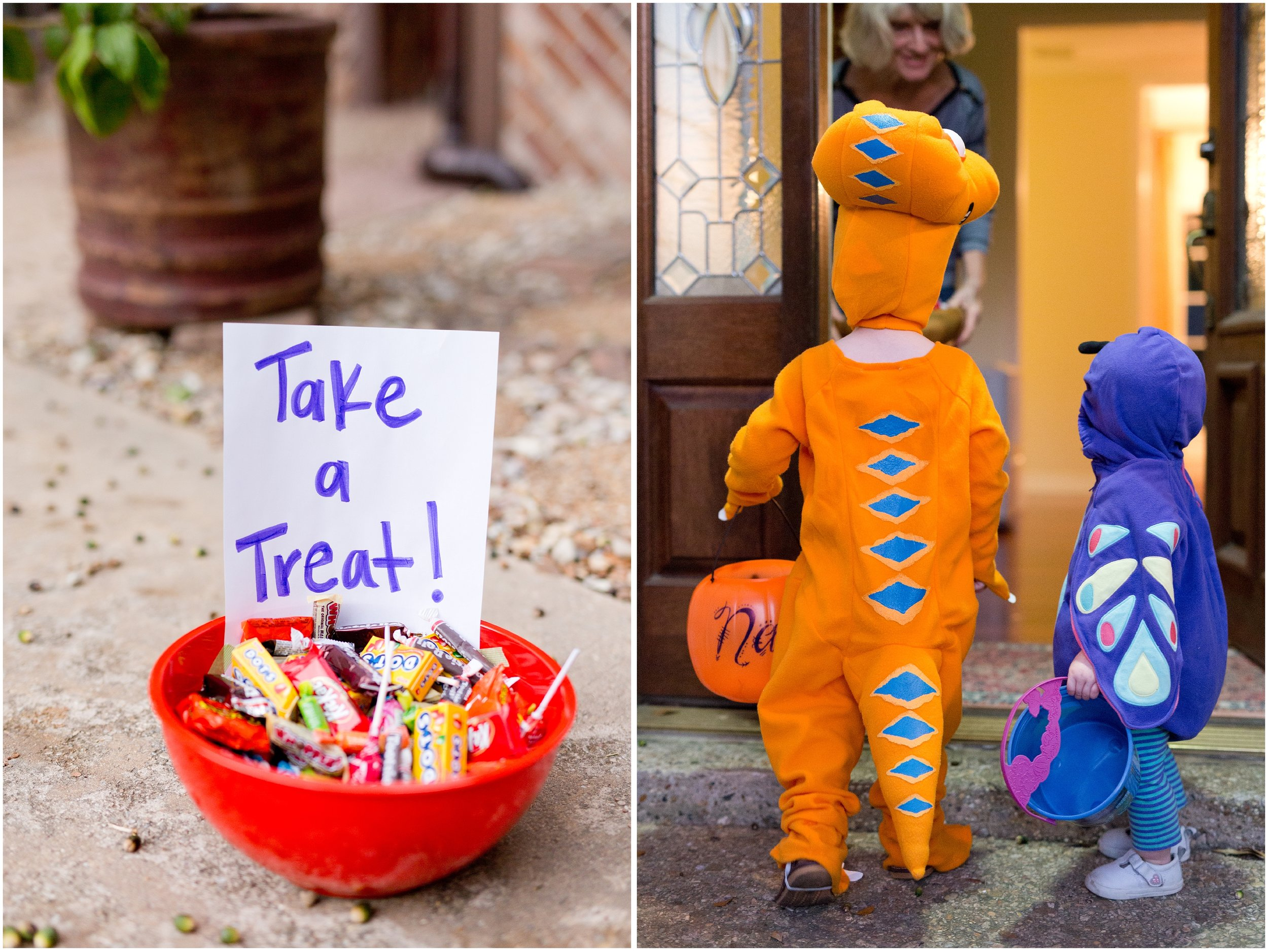 little kids trick-or-treating