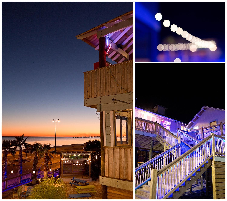 AJAX restaurant Gulfport at night