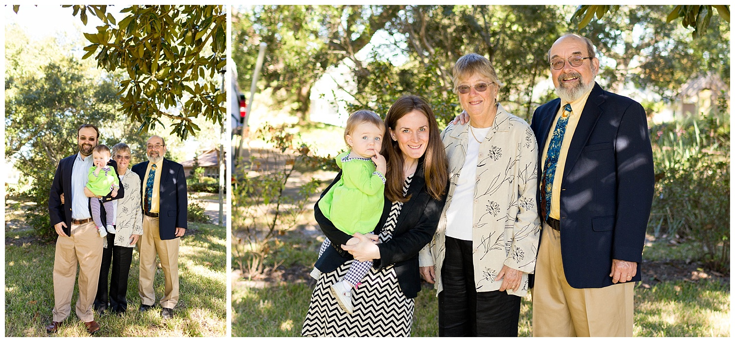 family photos with grandparents before church