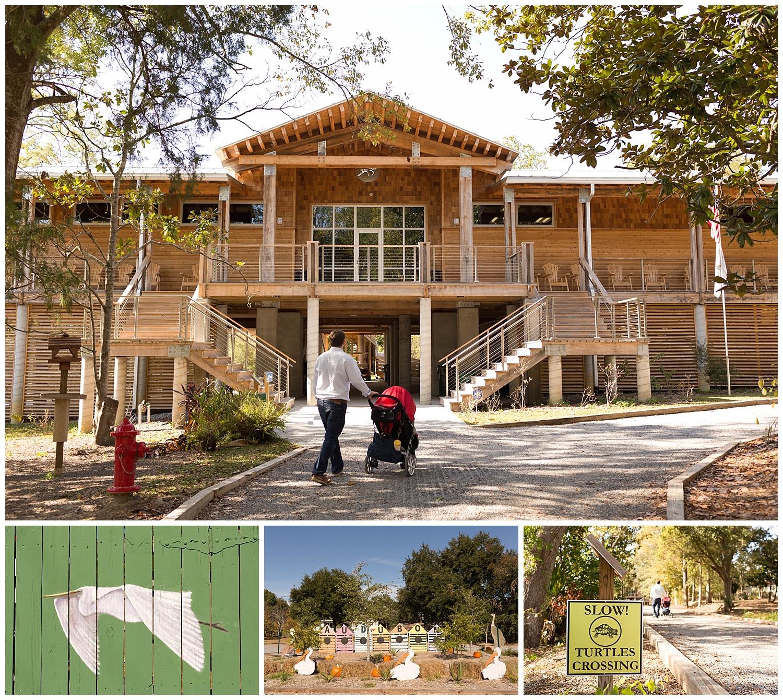 Pascagoula River Audubon Center building entrance
