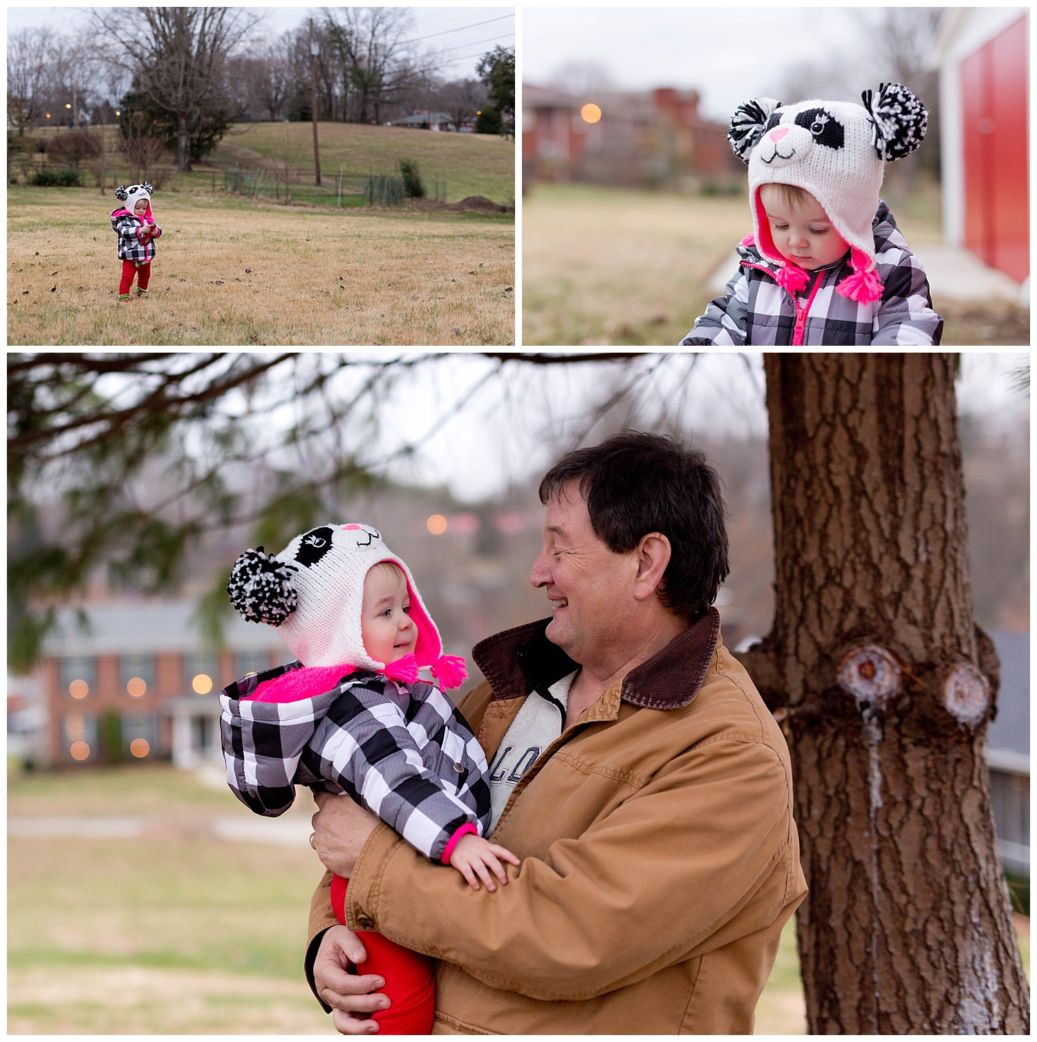 toddler girl with grandfather