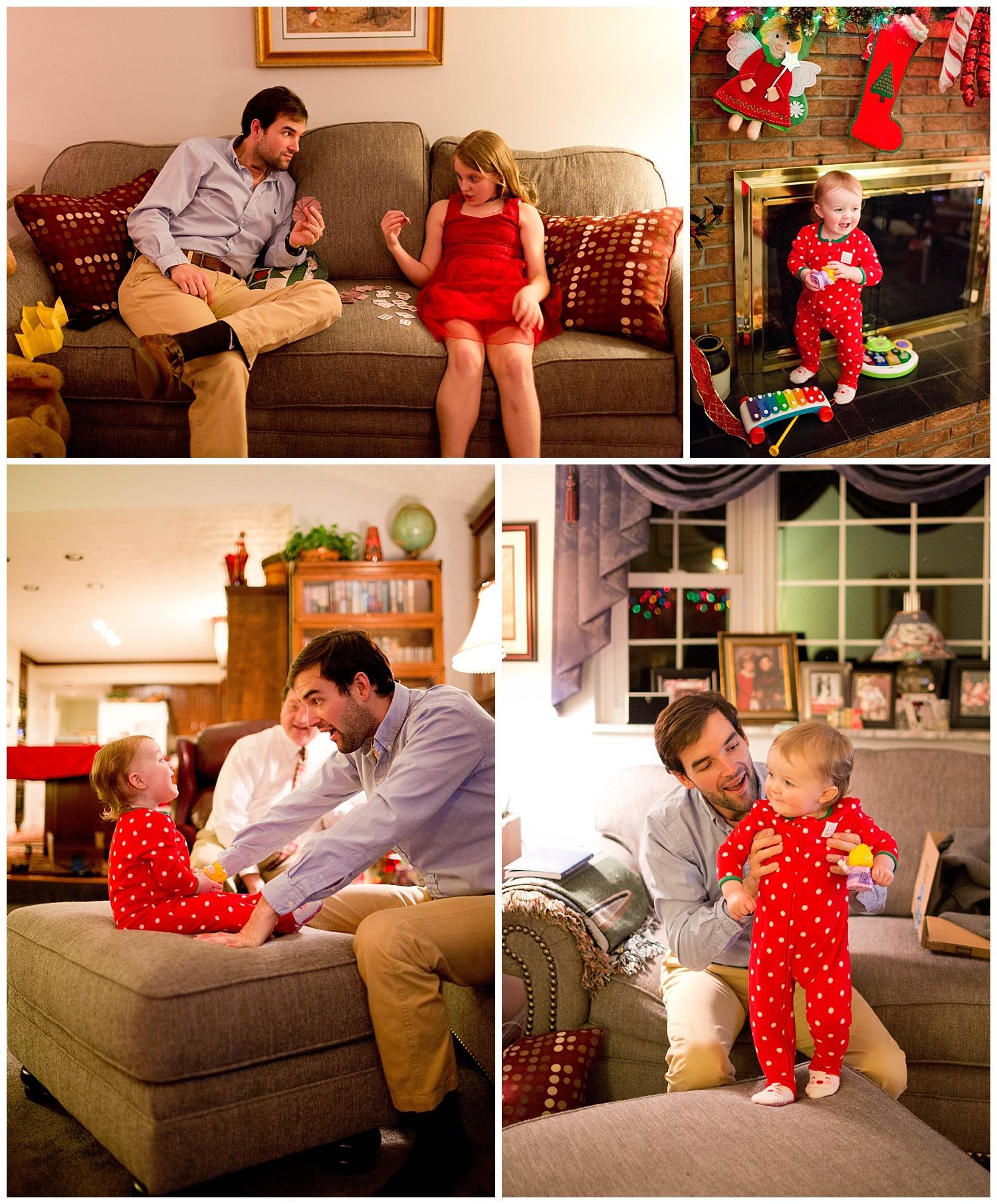 family fun on Christmas Eve