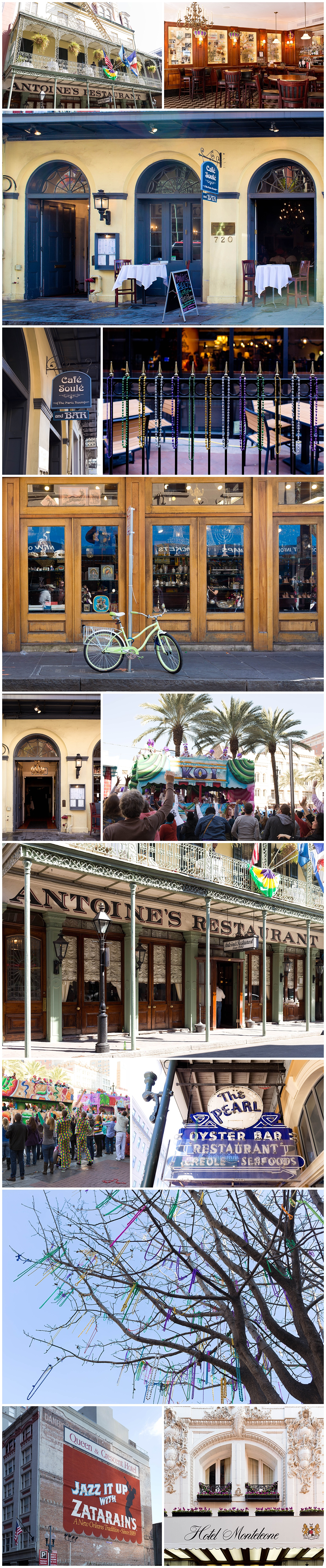 New Orleans restaurants, hotels, Mardi Gras parades and beads
