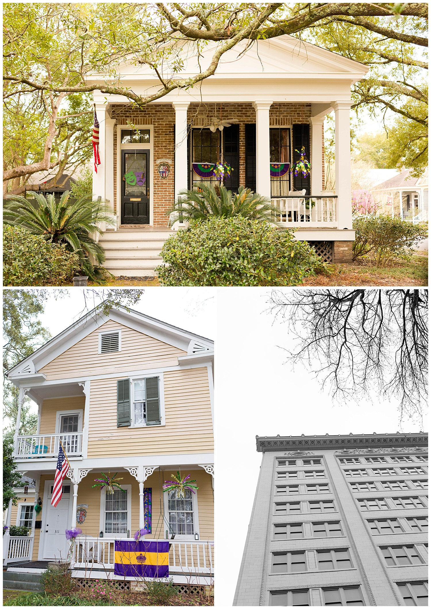 houses and buildings in Mobile, Alabama