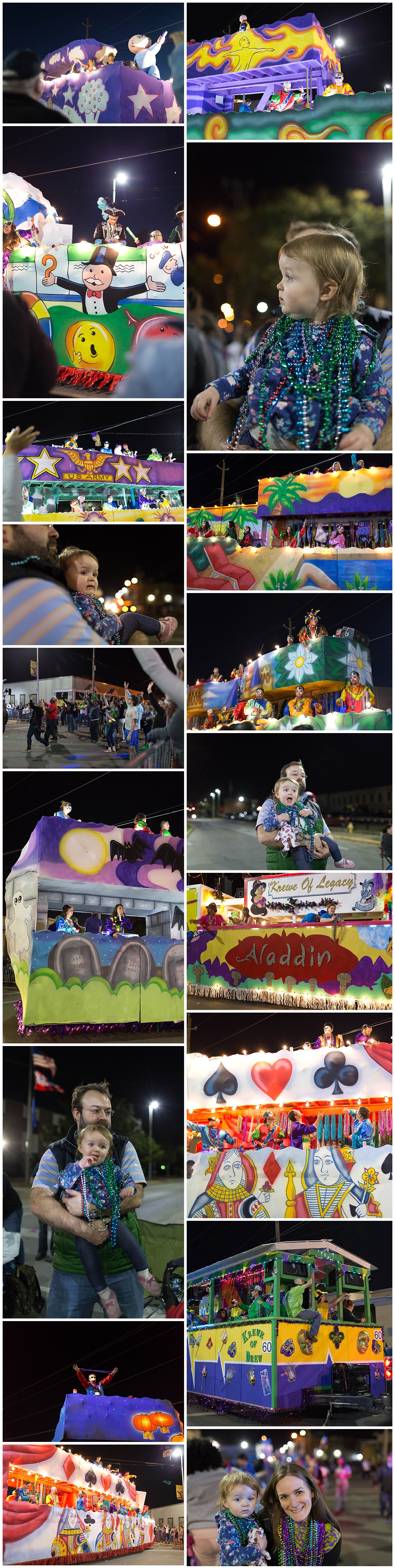 Krewe of Neptune Mardi Gras parade in Biloxi, Mississippi