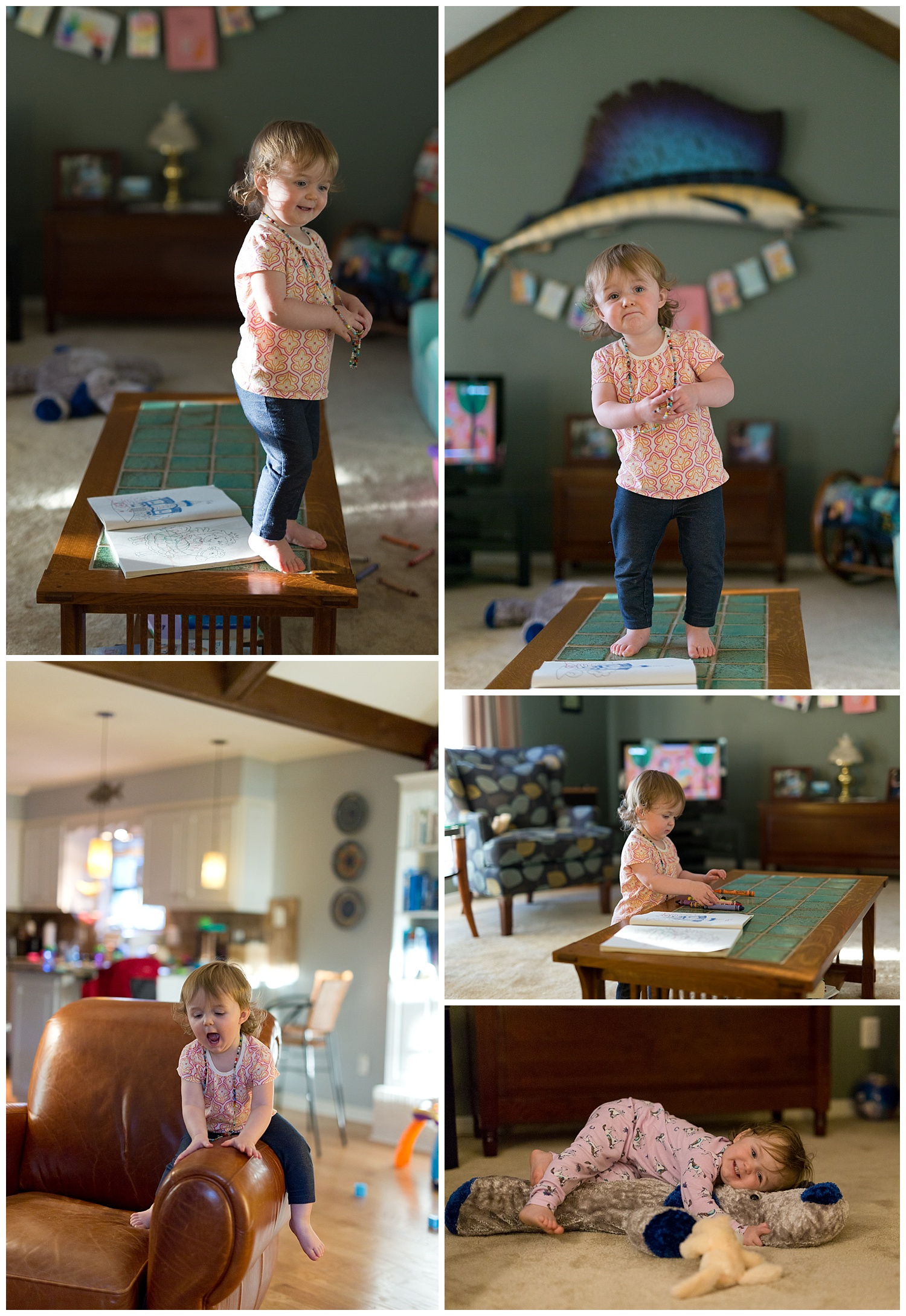 Ocean Springs lifestyle photographer - little girl playing in living room