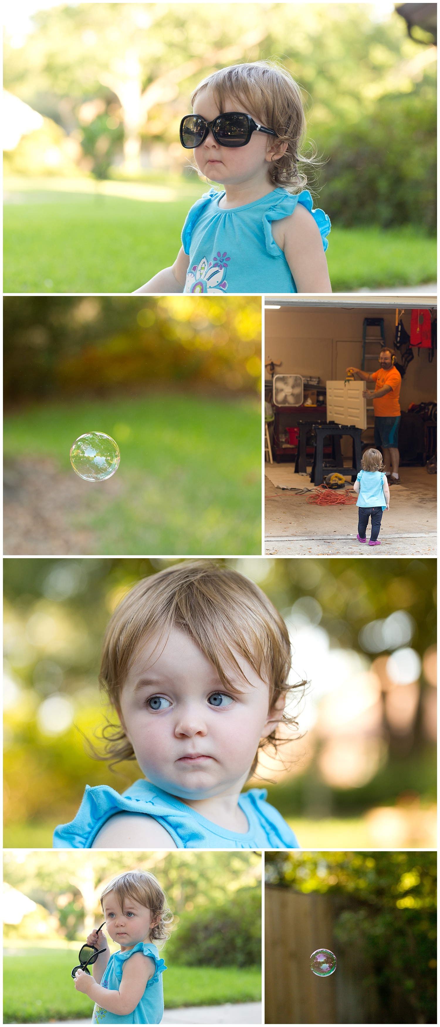 Ocean Springs lifestyle photographer - toddler girl playing outside