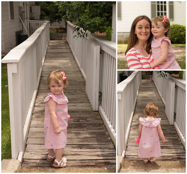 little girl at First Presbyterian Church in Ocean Springs