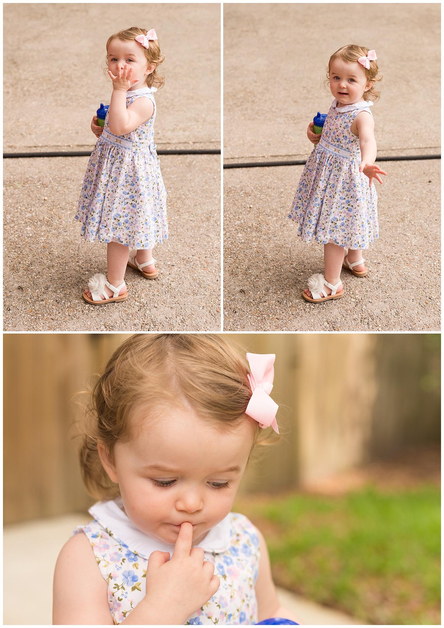 little girl in Sunday dress