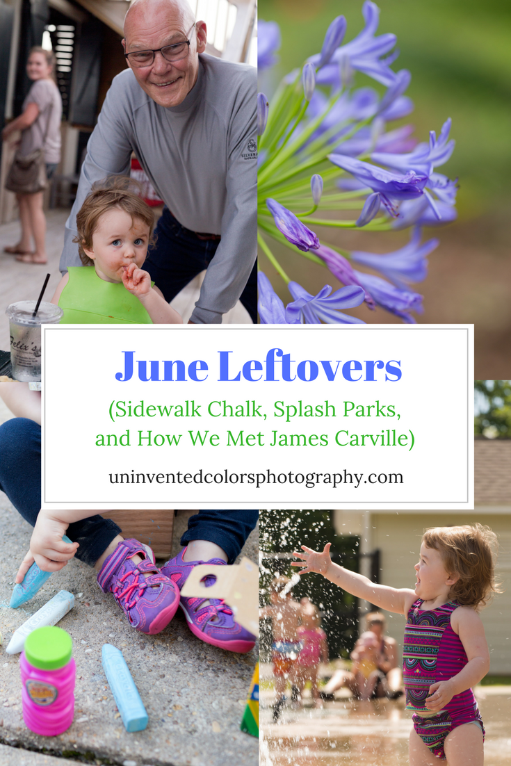 blog graphic with James Carville and toddler girl