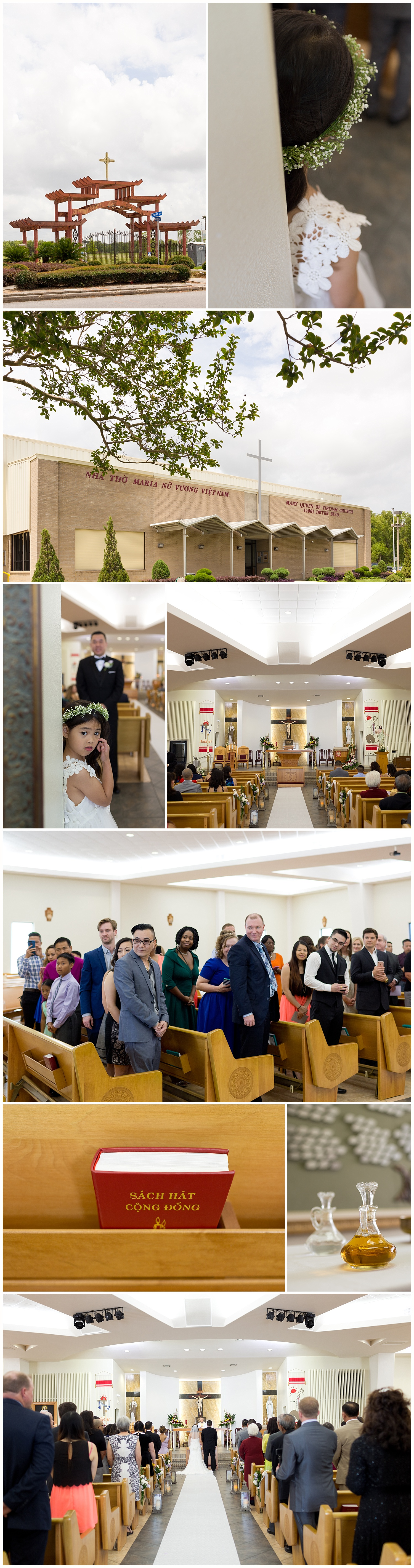 wedding at Mary Queen of Vietnam Church in New Orleans
