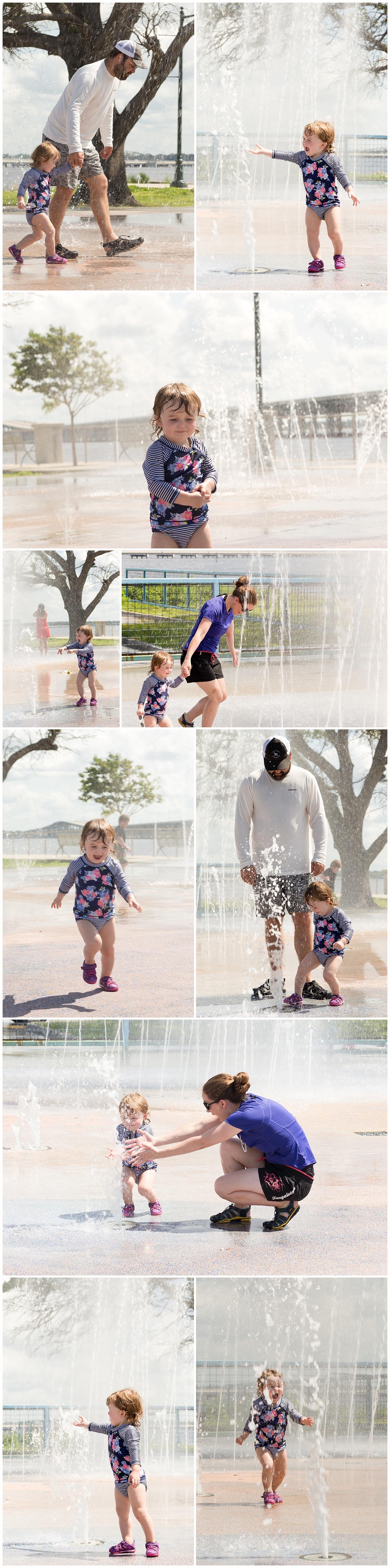 family fun in the summer, splash park in Biloxi, Mississippi