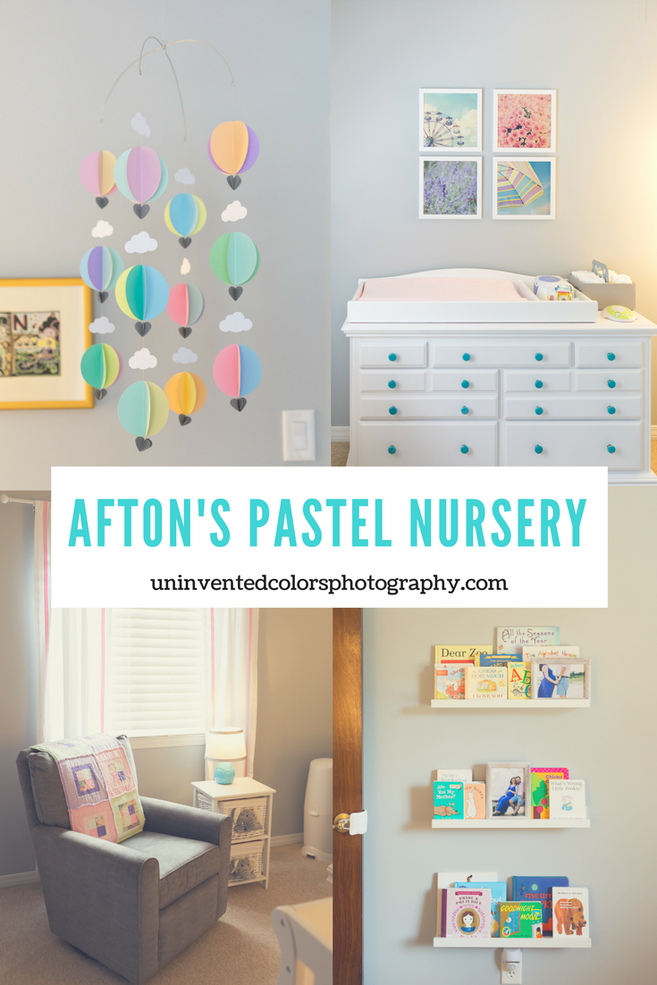 tiny nursery with multicolor pastel decor for baby girl