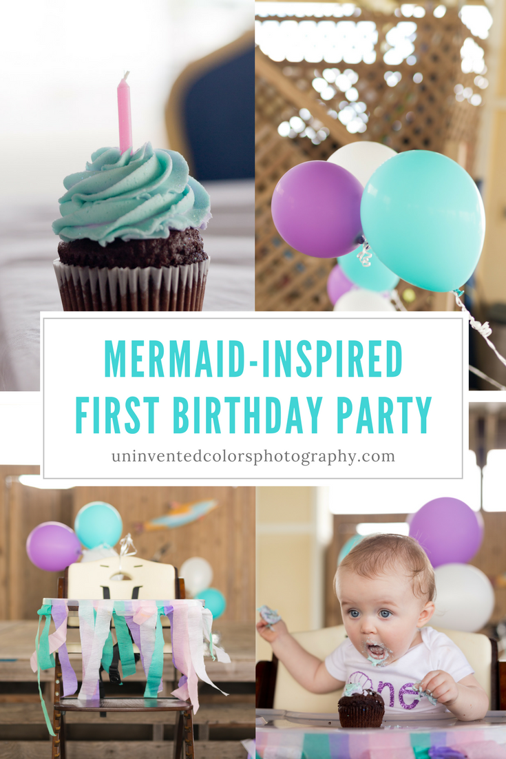 Mermaid-inspired first birthday party - baby girl mermaid birthday party