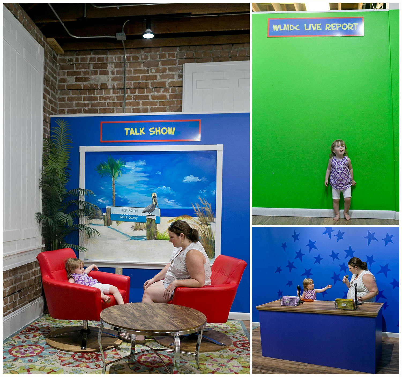 Lynn Meadows Discovery Center TV studio exhibit