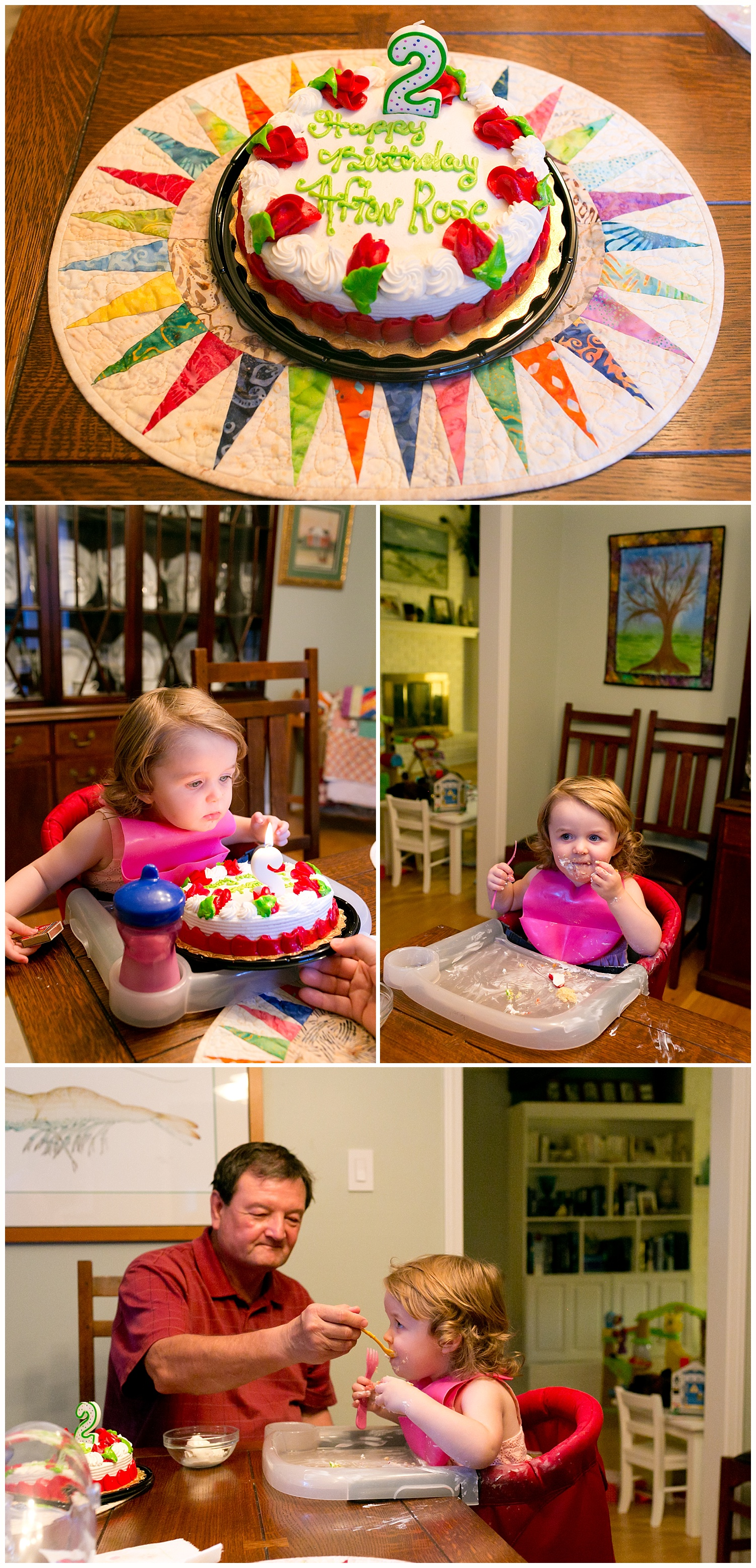two-year-old's birthday celebration at home