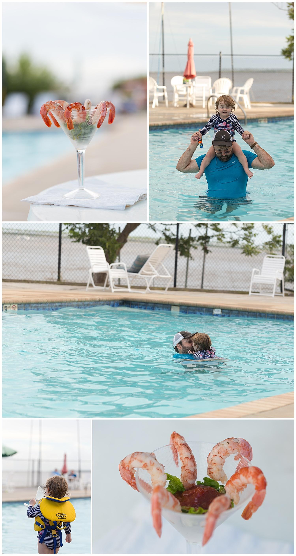 shrimp cocktail by the pool - Ocean Springs Yacht Club