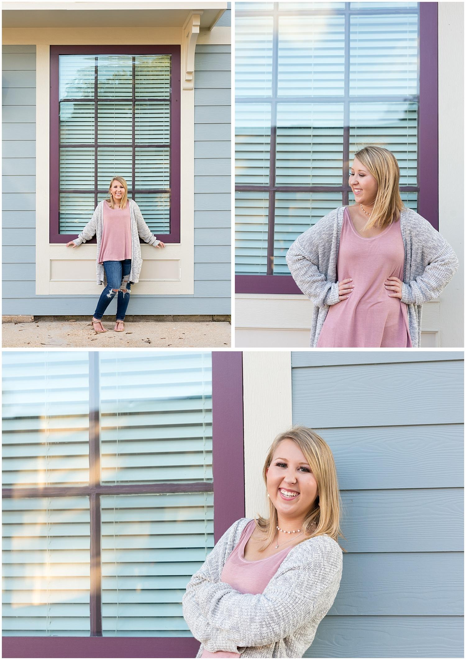 downtown Ocean Springs senior photos