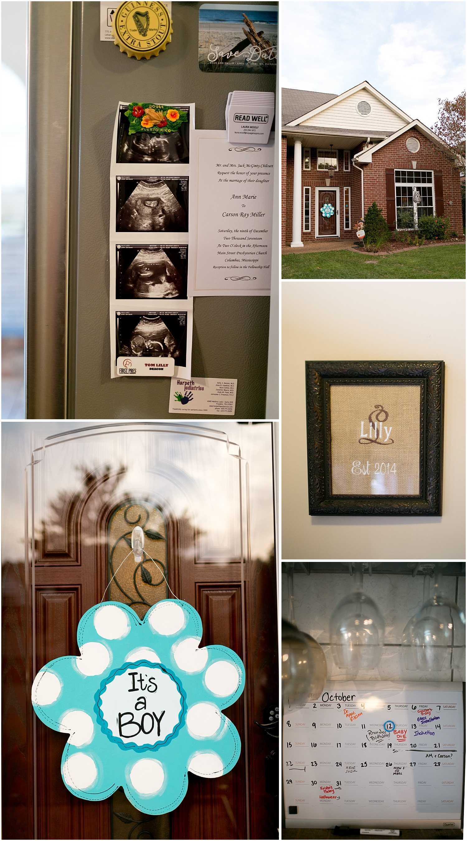baby boy wreath, ultrasound photos - detail shots from newborn lifestyle session