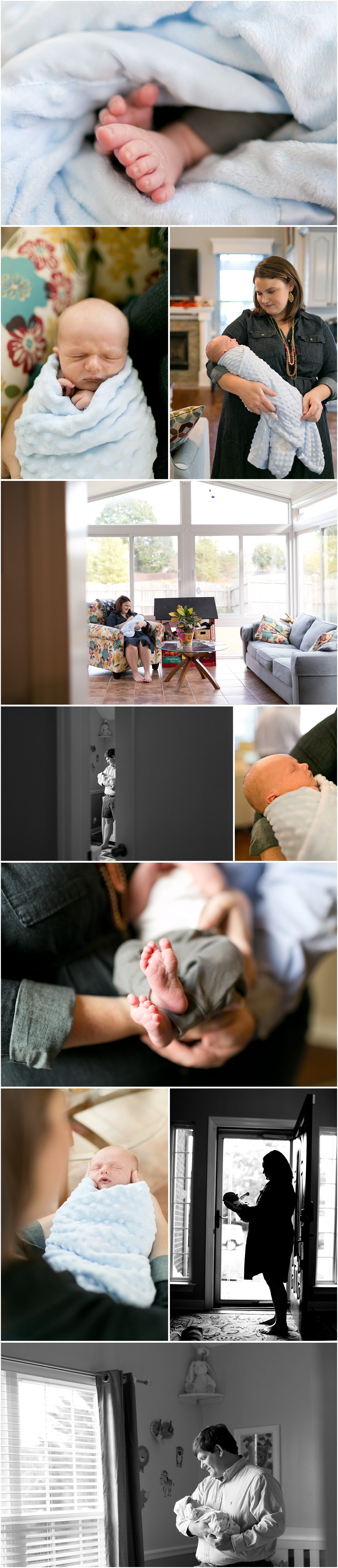 lifestyle newborn photography - in home session with baby boy