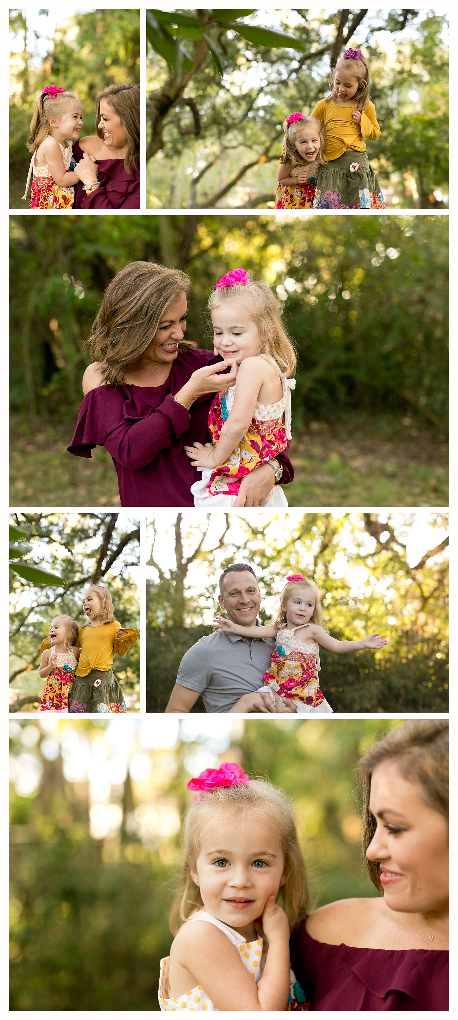 outdoor lifestyle family portrait session in Ocean Springs, Mississippi