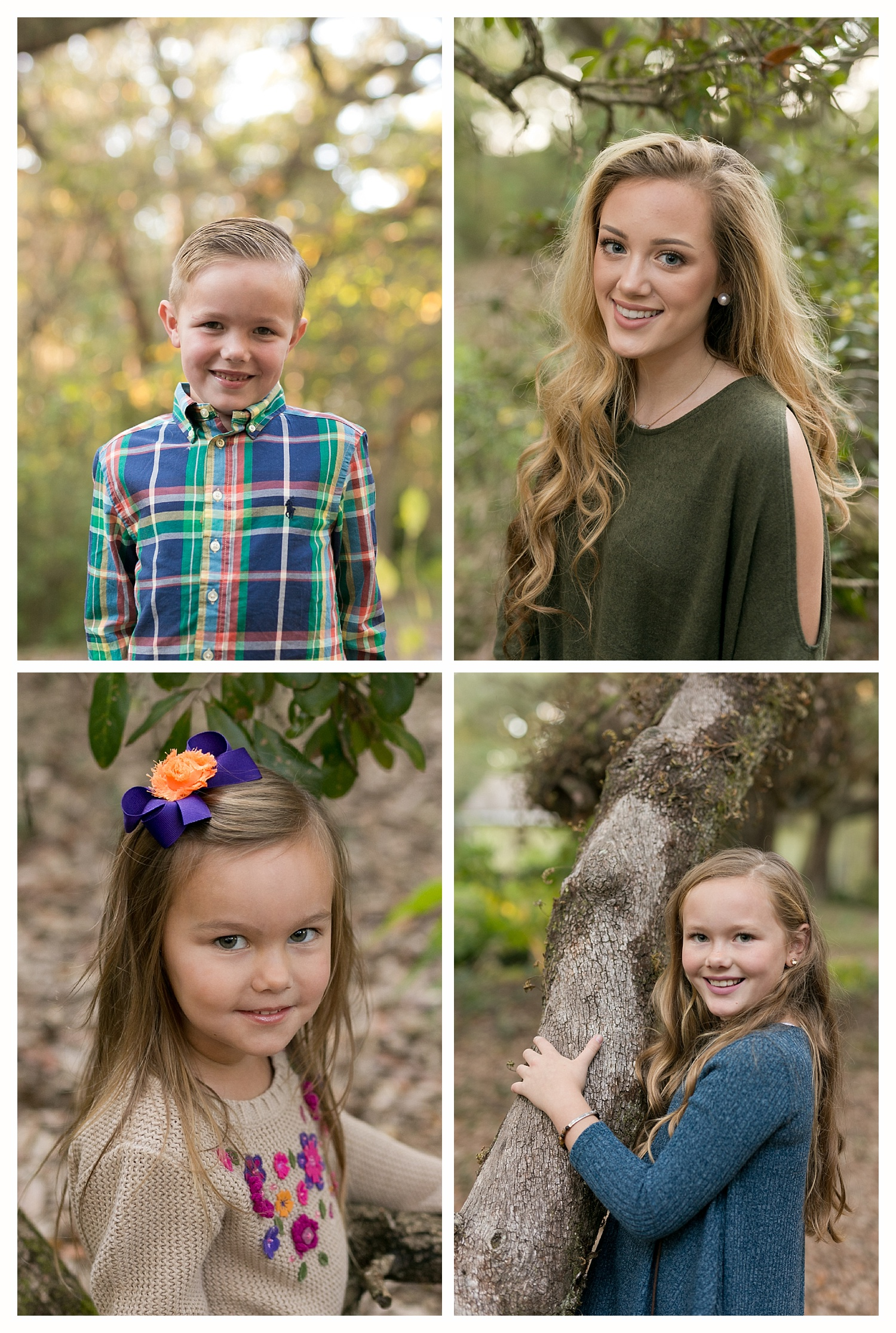 headshots of children and teens - Ocean Springs portrait photographer