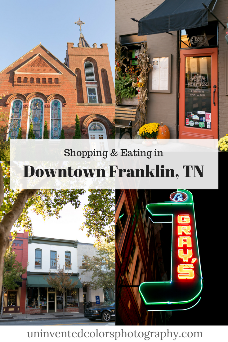 Where to shop and eat in downtown Franklin, Tennessee