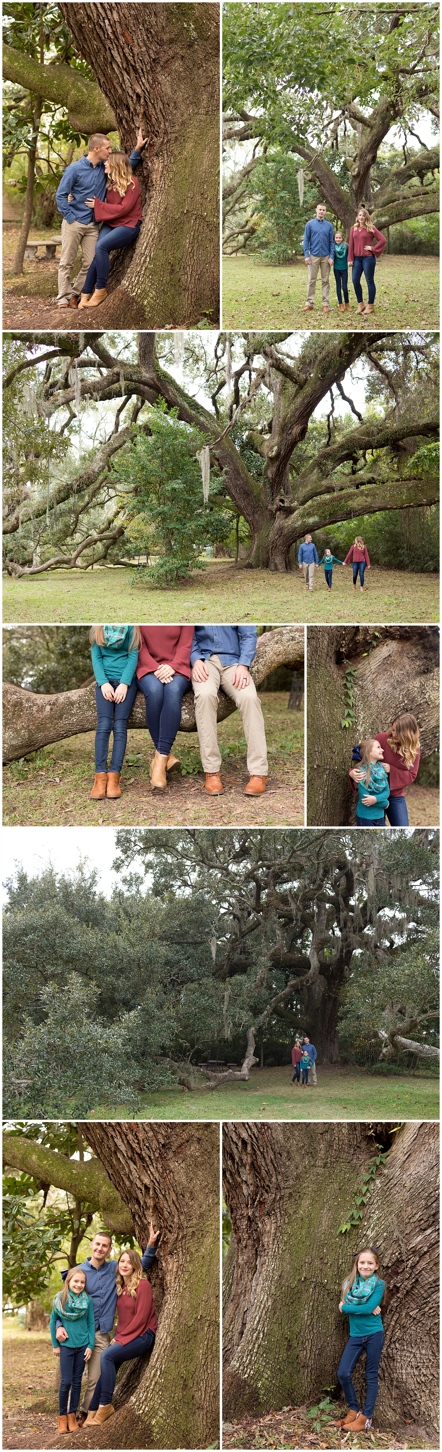 family photos with live oak tree in Ocean Springs, Mississippi - Gulf Coast family photographer