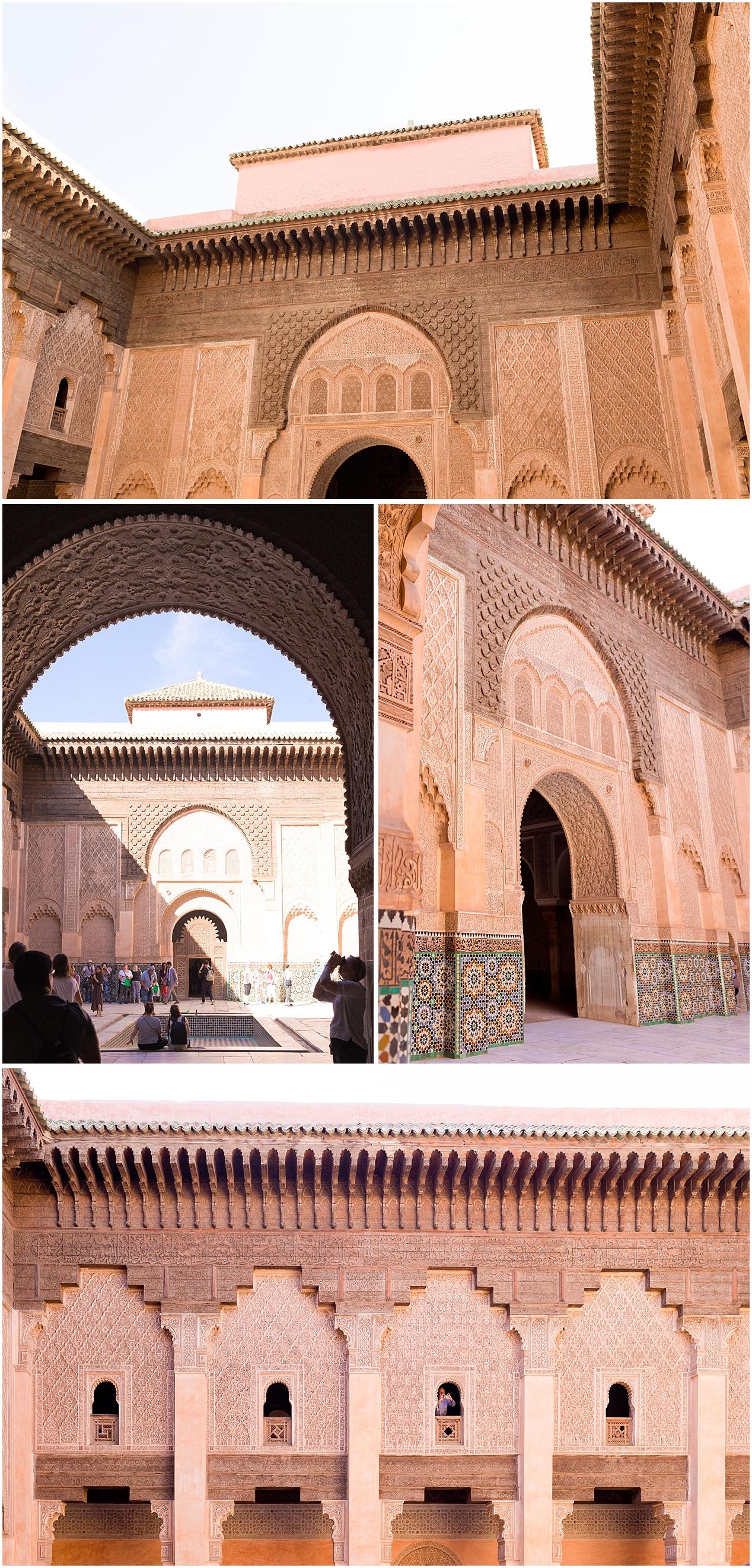 exterior of Medersa Ben Youssef in Marrackech, Morocco
