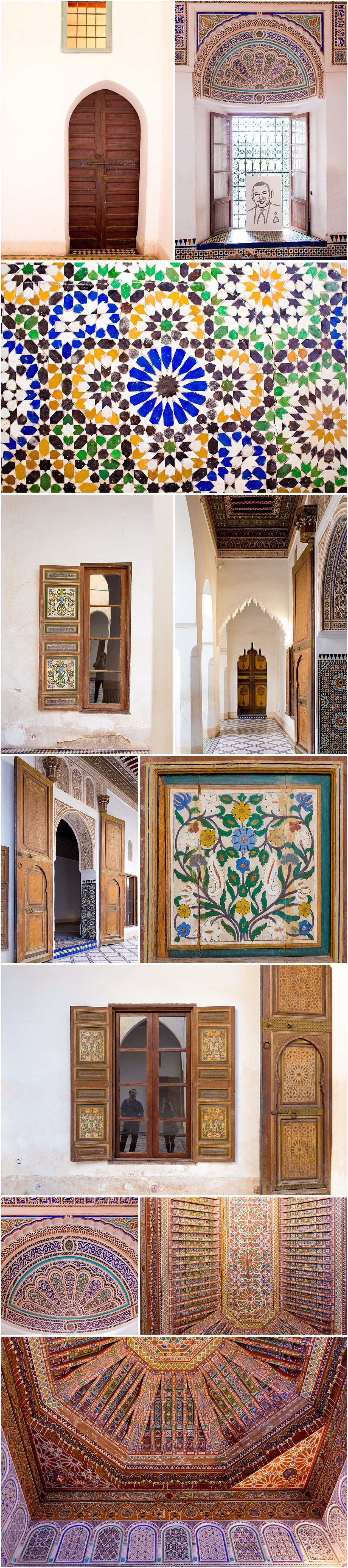 Morocco travel blog - intricate architectural details at Bahia Palace
