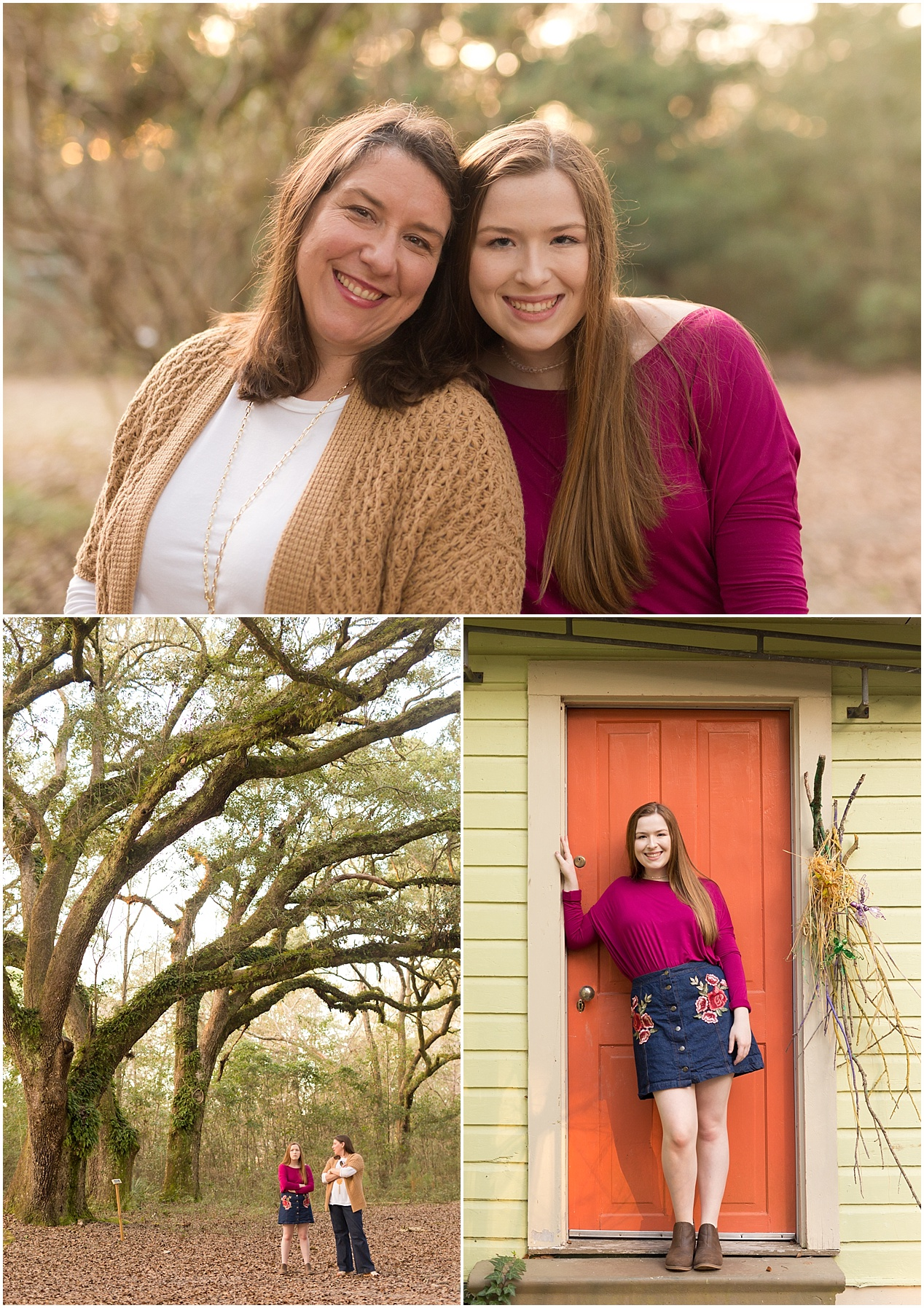 mother and daughter portraits in Ocean Springs, Mississippi
