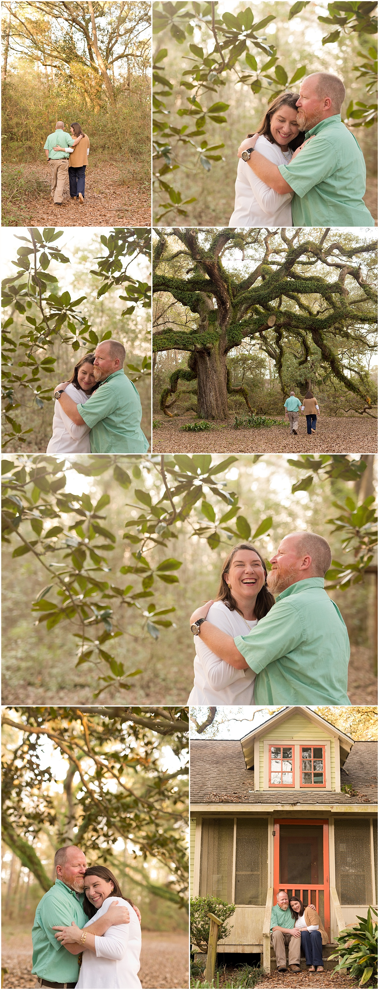 husband and wife portraits in the woods - Ocean Springs, Mississippi photographer