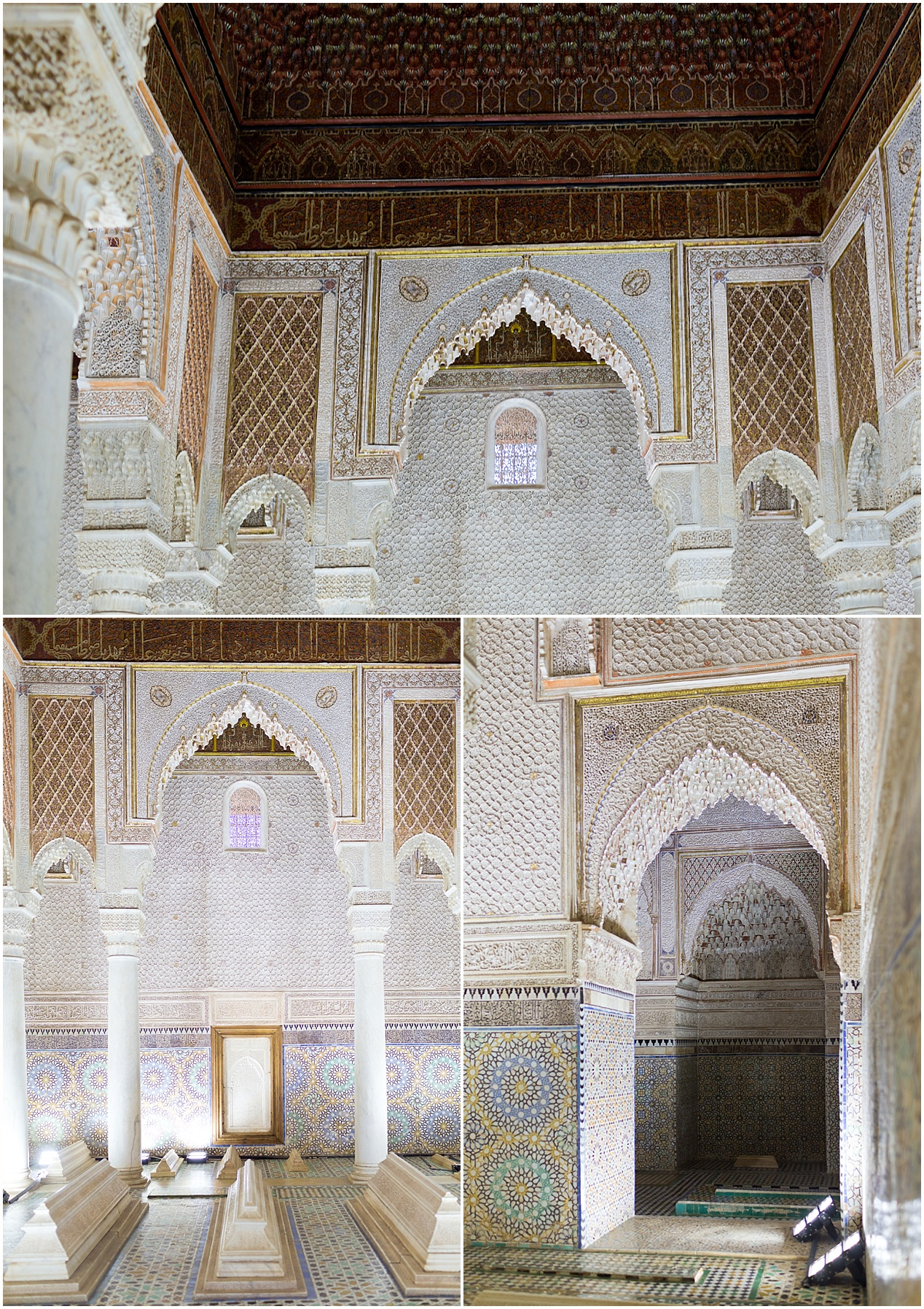 Saadian tombs in Marrakech - Morocco travel blog