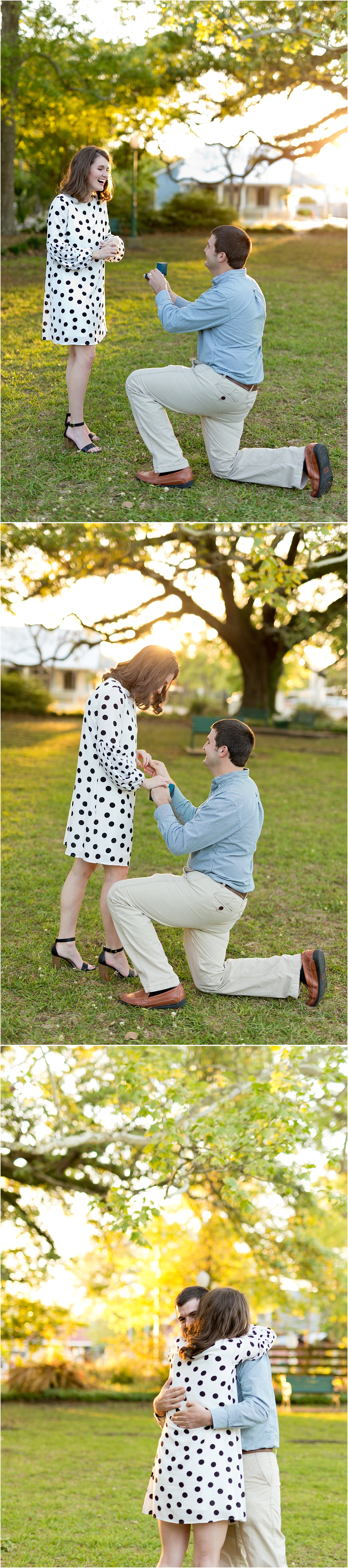 Proposal at Marshall park in Ocean Springs, Mississippi - Ocean Springs wedding photographer