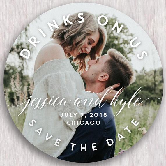 Save the Date Coaster on Etsy - wedding ideas by Biloxi wedding photographer