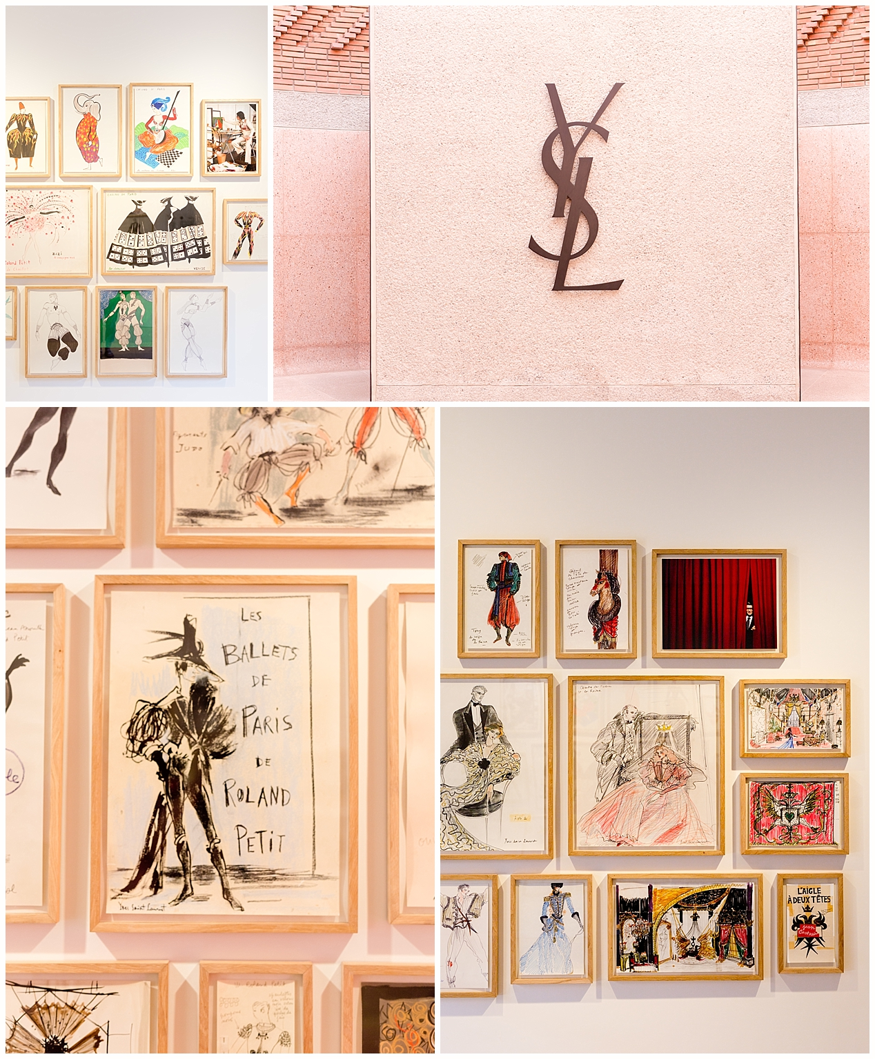 Yves Saint Laurent Museum in Marrakech, Morocco - YSL fashion illustrations