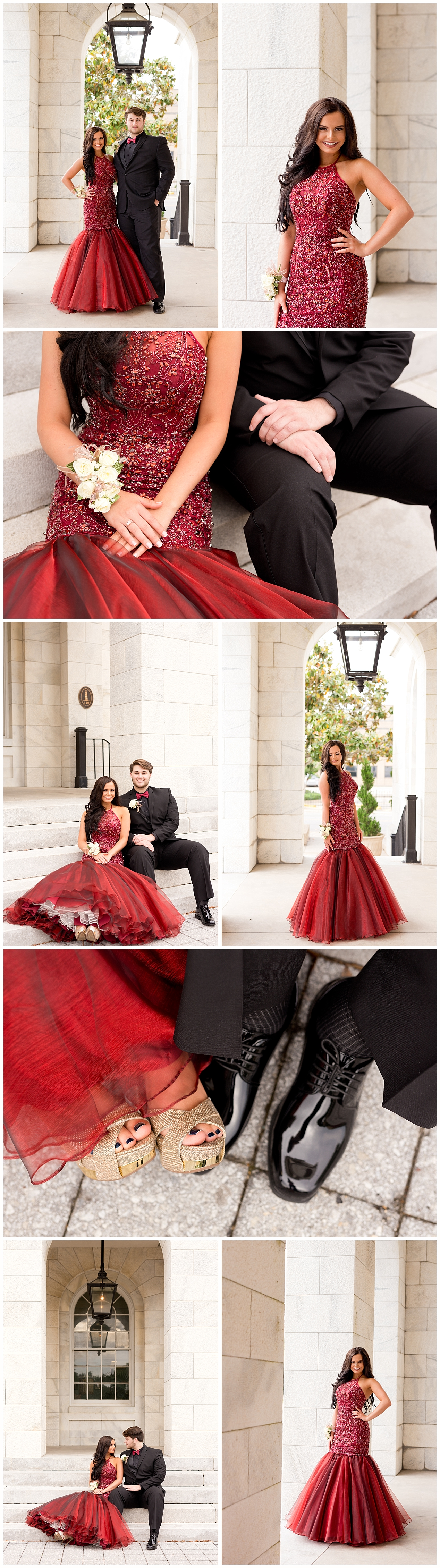 glamorous prom photos at Biloxi City Hall - Biloxi prom photographer