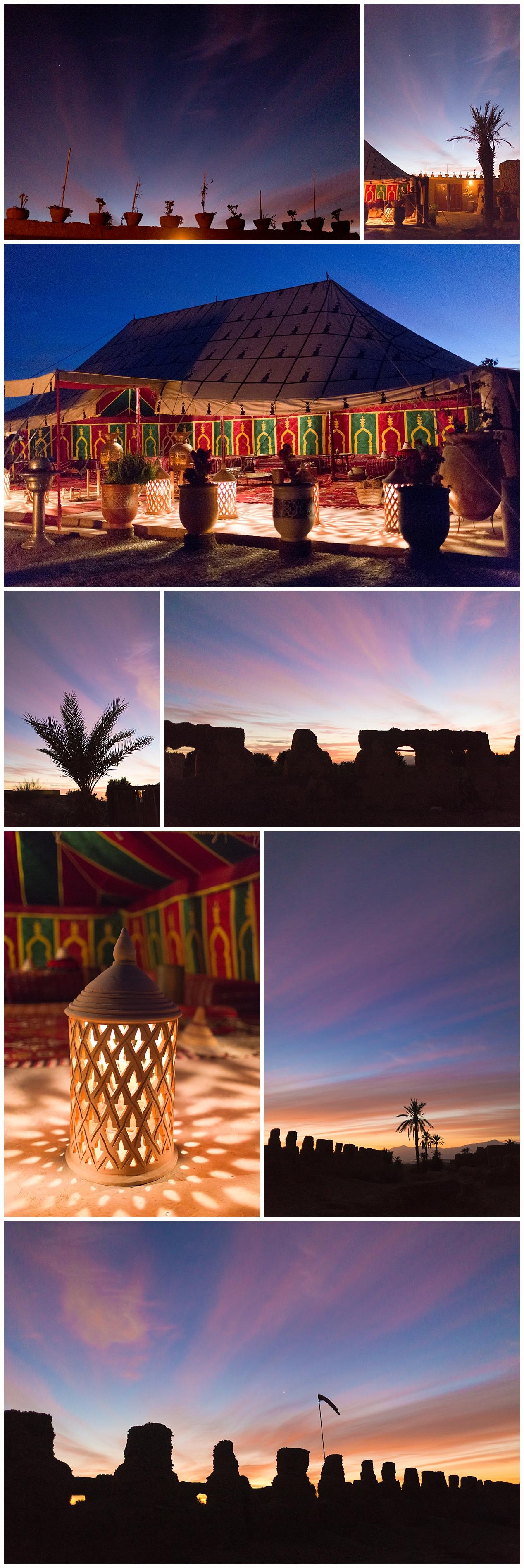 sunrise in the Sahara desert of Morocco