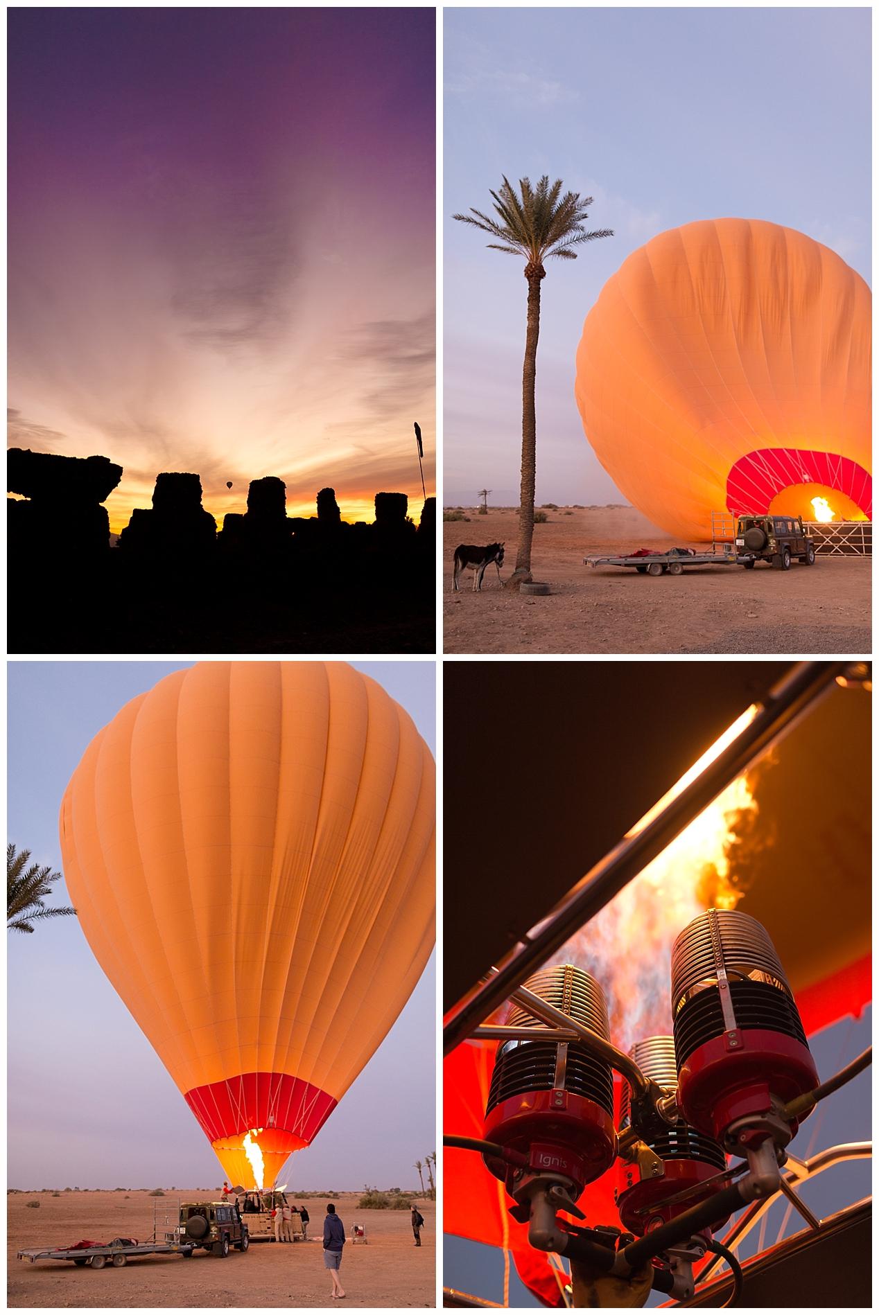 hot air balloon ride in Morocco