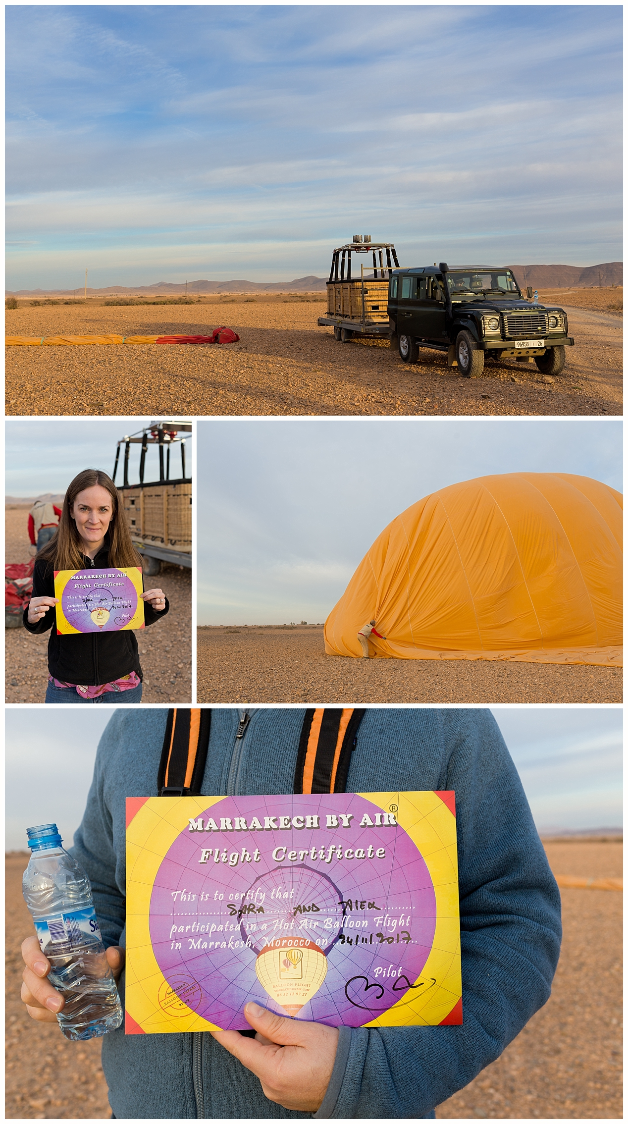 hot air balloon adventure certificate - Marrakech by AIr