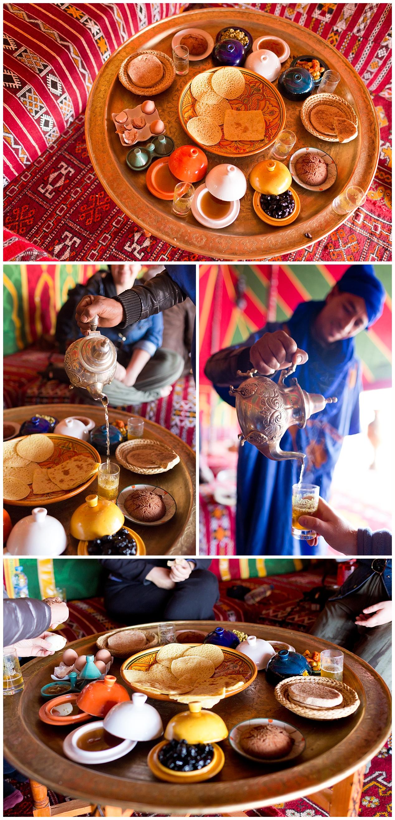 traditional Berber breakfast in Morocco