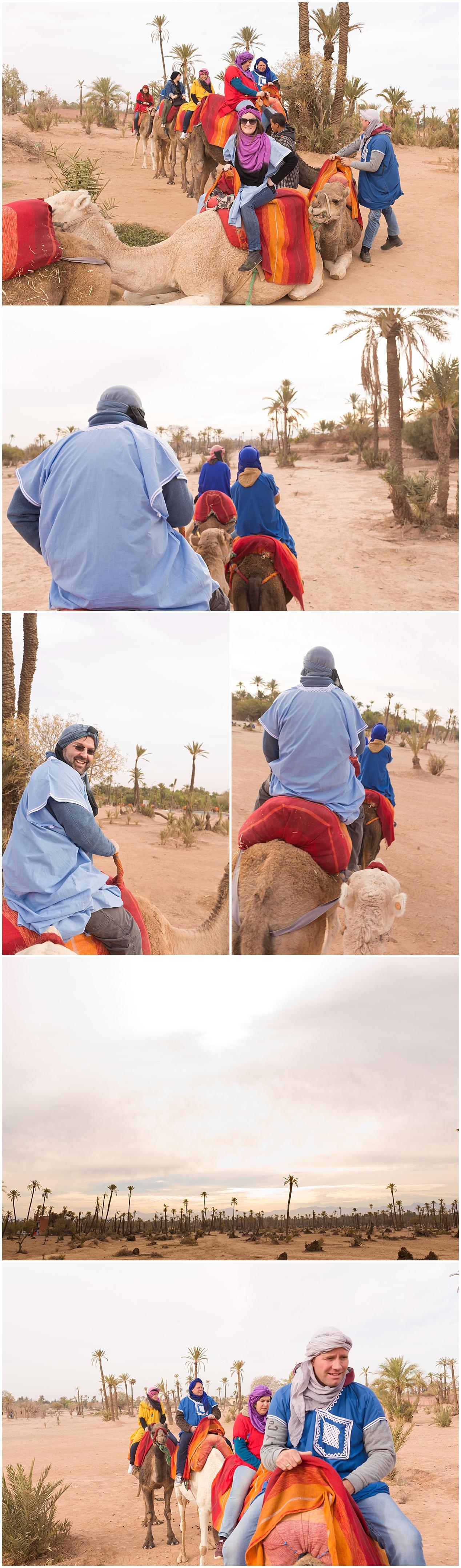 camel riding in Marrakesh, Morocco