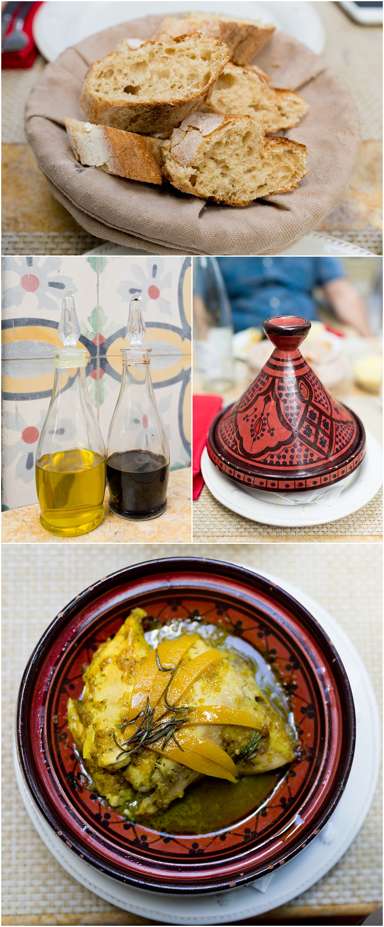 Marrakech restaurant review: Limoni (bread and tagine food)