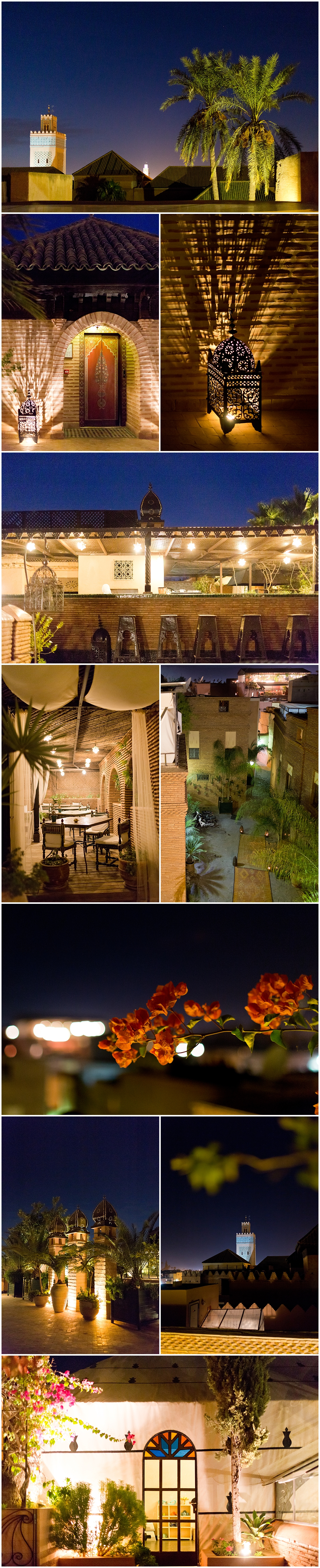 La Sultana Restaurant in Marrakech, Morocco - rooftop bar with view