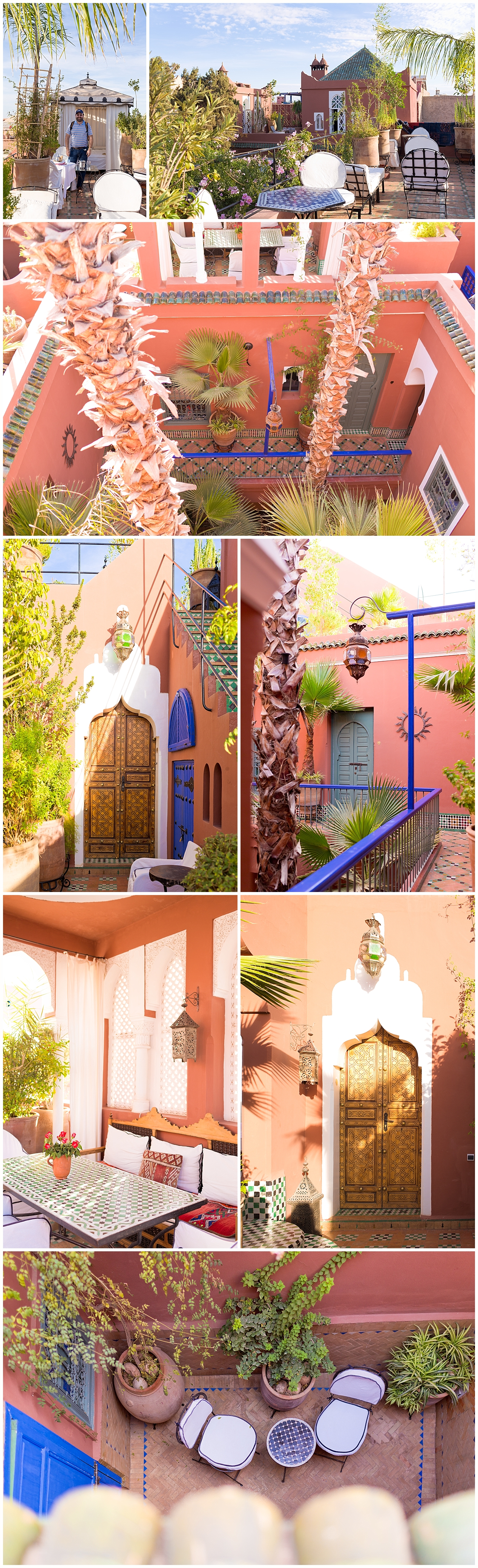 beautiful ancient Moroccan architecture at Riad Kaiss - Marrakech restaurant review