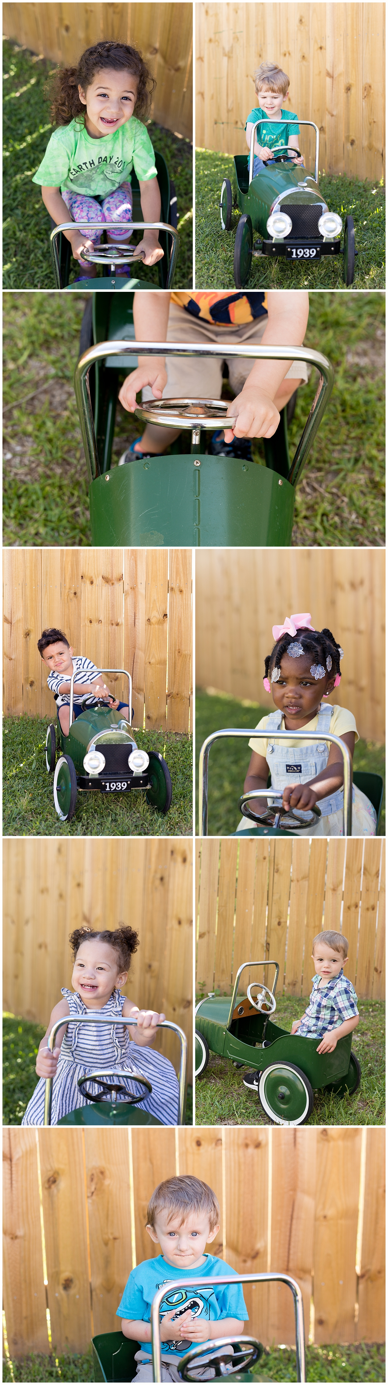 Ocean Springs preschool pictures with toy antique car