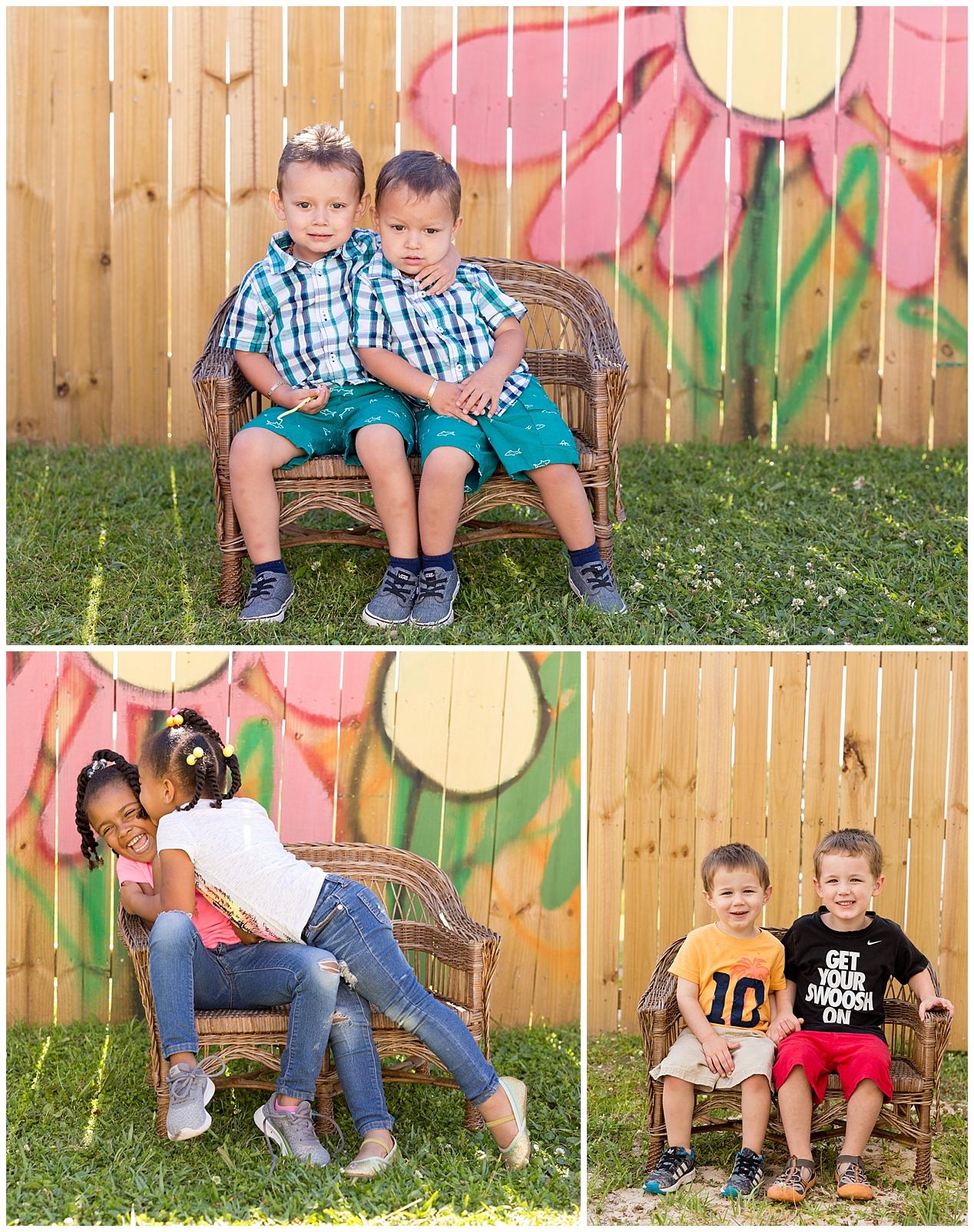 sibling school pictures at Ocean Springs preschool